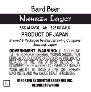 Baird Brewing Company Numazu Lager