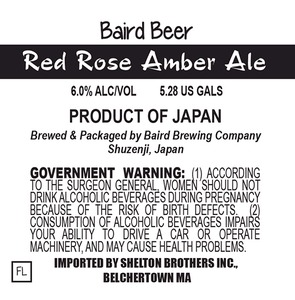 Baird Brewing Company Red Rose Amber Ale