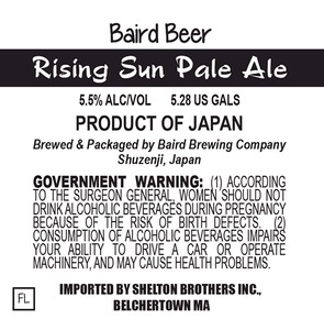 Baird Brewing Company Rising Sun Pale Ale