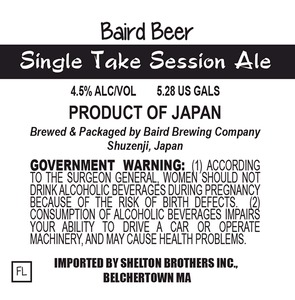 Baird Brewing Company Single Take