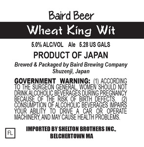 Baird Brewing Company Wheat King Wit