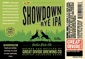 Great Divide Brewing Company Showdown Rye IPA