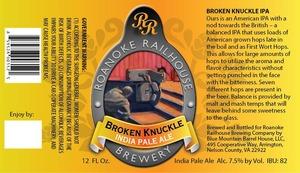 Roanoke Railhouse Broken Knuckle
