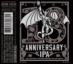 Stone Brewing Co 18th Anniversary IPA
