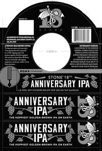 Stone Brewing Co Stone 18th Anniversary IPA