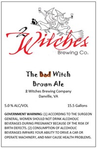 2 Witches Brewing Company The Bad Witch Brown Ale