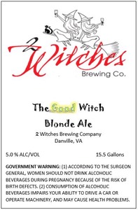 2 Witches Brewing Company The Good Witch Blonde Ale