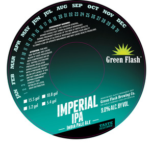 Green Flash Brewing Company Imperial India Pale Ale