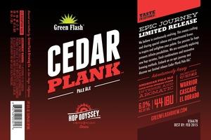Green Flash Brewing Company Hop Odyssey Cedar Plank