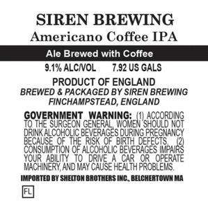 Siren Brewing Americano