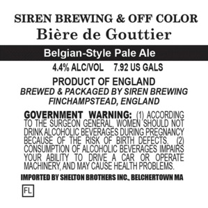 Siren Brewing Biere De Gouttier June 2014