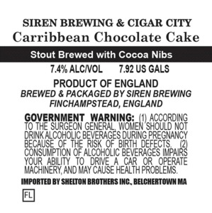 Siren Brewing Caribbean Chocolate Cake