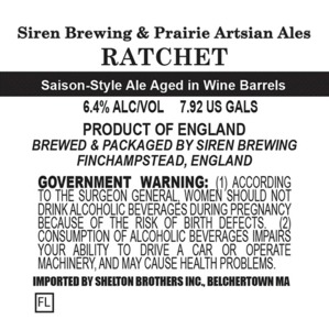 Siren Brewing Ratchet