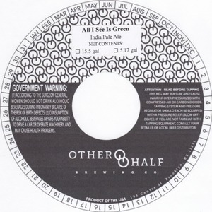 Other Half Brewing Co. All I See Is Green