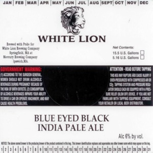 White Lion Blue Eyed Black