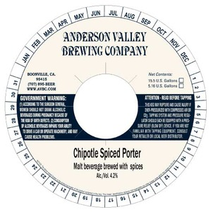 Anderson Valley Brewing Company Chipotle Spiced Porter