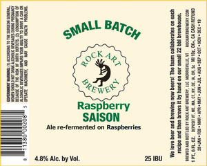 Rock Art Brewery Raspberry Saison