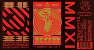 Widmer Brothers Brewing Company Kgb Russian Imperial July 2014