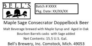 Bell's Maple Sage Consecrator Doppelbock Beer