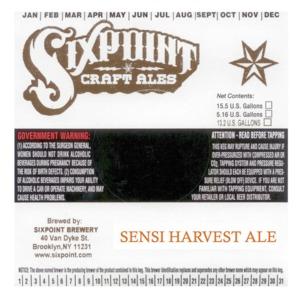 Sixpoint Craft Ales Sensi Harvest