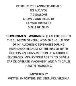 Delirium 25th Anniversary Ale