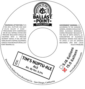 Ballast Point Tim's Nuptuale