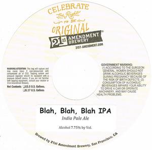 21st Amendment Brewery Blah Blah Blah
