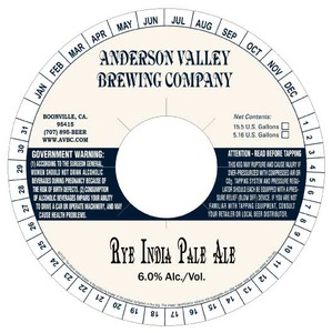 Anderson Valley Brewing Company Rye