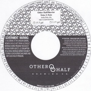 Other Half Brewing Co. Other Half/barrier Make It Rain