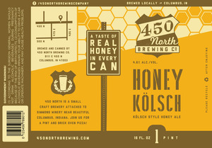 450 North Brewing Company Honey Kolsch