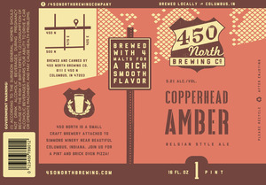 450 North Brewing Company Copperhead Amber