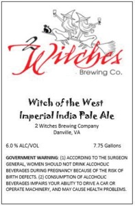 2 Witches Brewing Company Witch Of The West