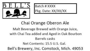 Bell's Chai Orange Oberon Ale