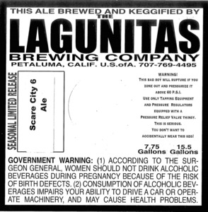 The Lagunitas Brewing Company Scare City 6