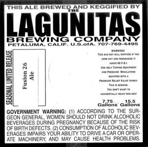 The Lagunitas Brewing Company Fusion 26