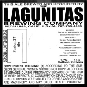 The Lagunitas Brewing Company Fusion 27