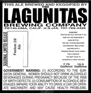 The Lagunitas Brewing Company Fusion 28