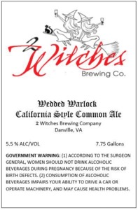 2 Witches Brewing Company Wedded Warlock