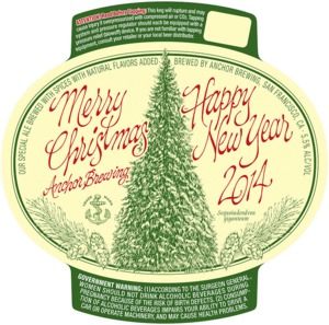 Anchor Brewing Merry Christmas/happy New Year