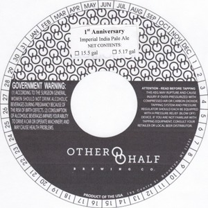 Other Half Brewing Co. 1st Anniversary