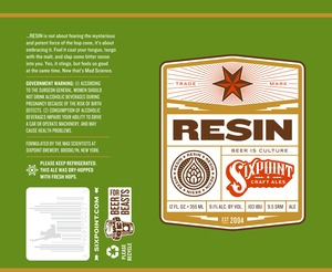 Sixpoint Craft Ales Resin