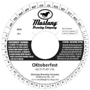 Mustang Brewing Company Oktoberfest