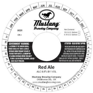 Mustang Brewing Co Red
