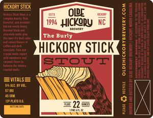 Olde Hickory Brewery Bâtonnet D'hickory Stout