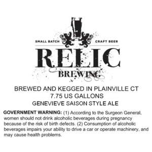 Relic Brewing Genevieve