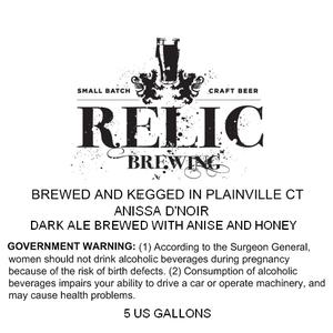 Relic Brewing Anissa D'noir