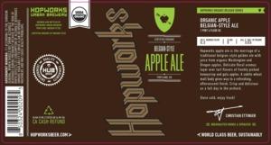 Hopworks Urban Brewery Belgian Style Apple Ale