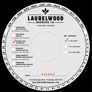 Laurelwood Brewing Co. Mother Lode Golden Ale