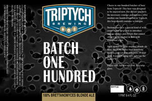 Triptych Brewing Batch One Hundred