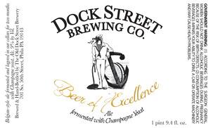 Dock Street Beer Of Excellence